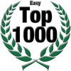 Top 1000 Award for Easy Level