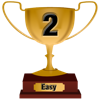 Number 2 Award for Easy Level