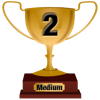 Number 2 Award for Medium Level